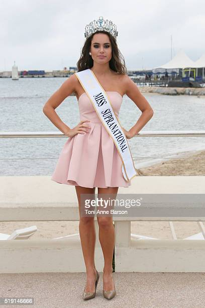 Stephania Stegman attends 'Miss Supranational' Photocall as part of MIPTV 2016 on April 4 2016 in Cannes France