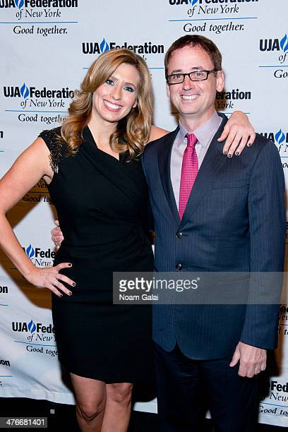Stephanie Abrams and David Kenny attend the UJAFederation's 2014 Digital Media Award Celebration at The Edison Ballroom on March 4 2014 in New York...