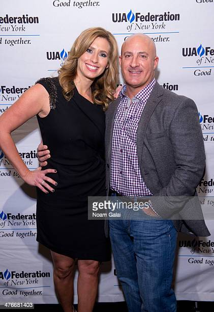 Stephanie Abrams and Jim Cantore attend the UJAFederation's 2014 Digital Media Award Celebration at The Edison Ballroom on March 4 2014 in New York...
