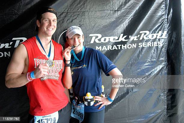 Stephanie Abrams and Marcus Lehman attends The Country Music Marathon 1/2 Marathon presented by Nissanat Centennial Park on April 30 2011 in...