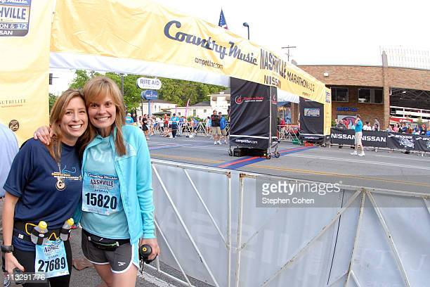 Stephanie Abrams and Suzanne Alexander of GAC attends The Country Music Marathon 1/2 Marathon presented by Nissanat Centennial Park on April 30 2011...
