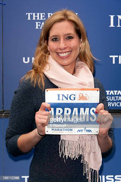Stephanie Abrams attends the 2012 ING New York City Marathon Celebrity Runners Photo Call at ING New York City Marathon Media Center on November 1...