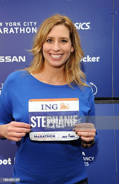 Stephanie Abrams attends the 2013 ING NYC Marathon press conference at ING New York City Marathon Media Center on October 31 2013 in New York City