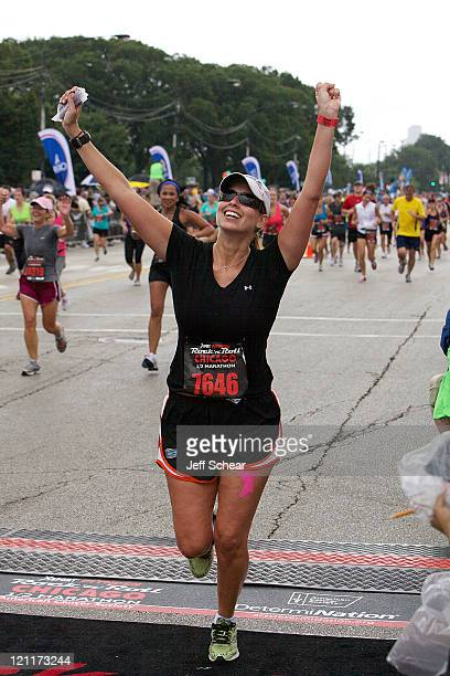 Stephanie Abrams during the 2011 Rock 'n' Roll Chicago 1/2 marathon at Grant Park on August 14 2011 in Chicago Illinois