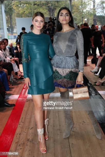 Stephanie Abrishamchi and Farnoush Hamidian attend the Elie Saab Womenswear Spring/Summer 2020 show as part of Paris Fashion Week on September 28...