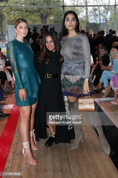 Stephanie Abrishamchi Hedieh Loubier and Farnoush Hamidian attend the Elie Saab Womenswear Spring/Summer 2020 show as part of Paris Fashion Week on...