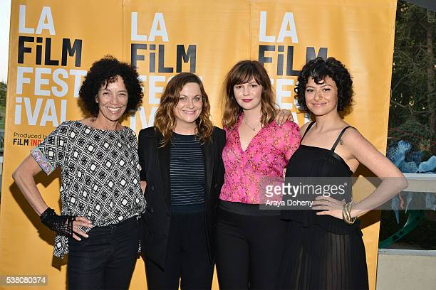 Stephanie Allain Amy Poehler Amber Tamblyn and Alia Shawkat attend the 2016 Los Angeles Film Festival Paint It Black premiere at LACMA on June 3 2016...
