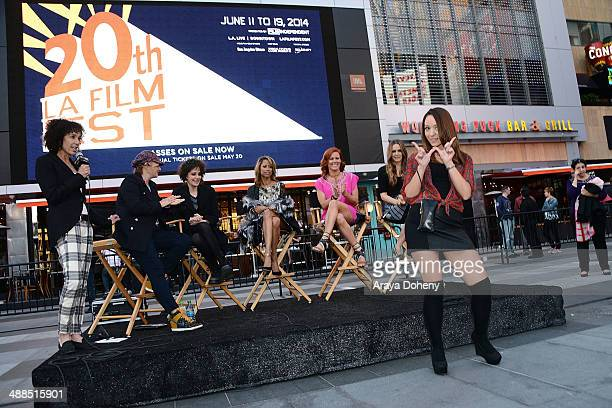 Stephanie Allain Mona May Amy Heckerling Stacey Dash Elisa Donovan and Alicia Silverstone attend the Film Independent's prefestival outdoor screening...