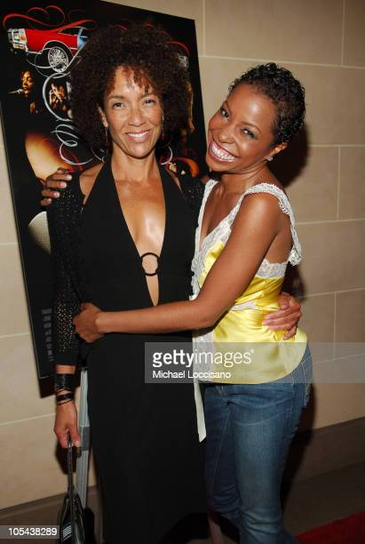 "Stephanie Allain, producer, and Paula Jai Parker during ""Hustle & Flow"" Private New York City Screening - After Party at Fizz in New York City, New..."