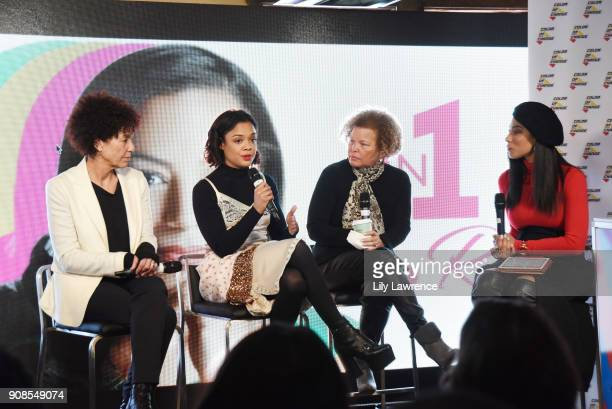 Stephanie Allain Tessa Thompson Debra L Lee and Angela Rye attend 'On One with Angela Rye' Presents Black Women Are Leading The Revolution during the...