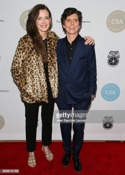 Stephanie Allynne and Tig Notaro attend the Casting Society Of America's 33rd Annual Artios Awards at The Beverly Hilton Hotel on January 18 2018 in...