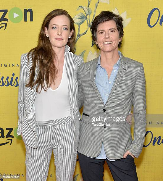 Stephanie Allynne and Tig Notaro attend the premiere of Amazon Instant Video's 'One Mississippi' at The London West Hollywood on August 30 2016 in...