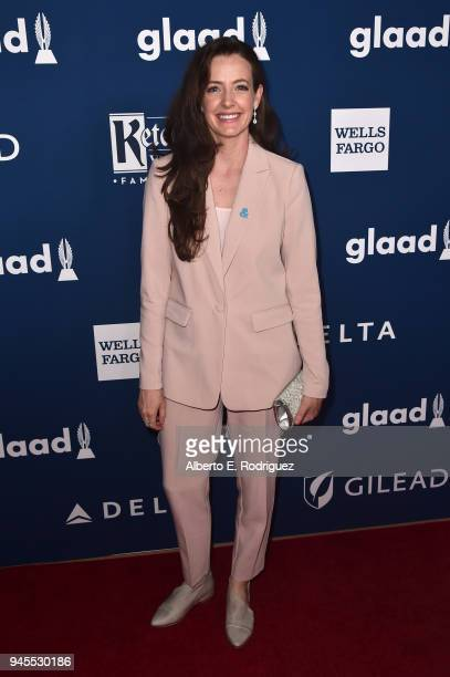 Stephanie Allynne attends the 29th Annual GLAAD Media Awards at The Beverly Hilton Hotel on April 12 2018 in Beverly Hills California