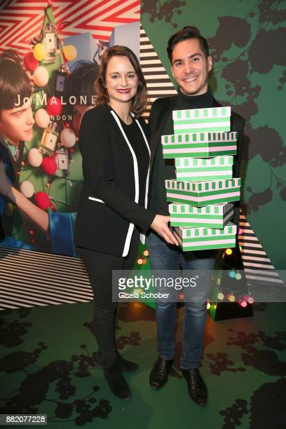 Stephanie Amberg Marketing Manager Jo Malone London and Francois Goeske during the Jo Malone London 'Crazy Colourful Christmas' event at Goldberg...