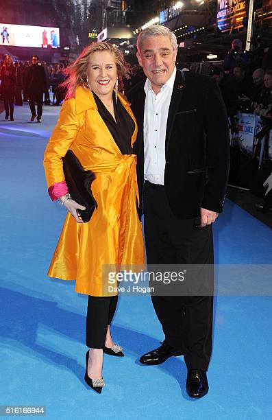 Stephanie and Dominic Parker attend the European premiere of 'Eddie The Eagle' at Odeon Leicester Square on March 17 2016 in London England