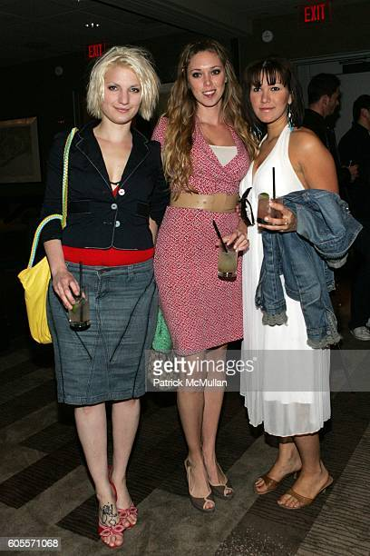 Stephanie Aqualino Kara Hughett and Anna DeSouza attend Kelly Killoren Bensimon Celebrates the Launch of 'The Bikini Book' at The Yard at Soho Grand...