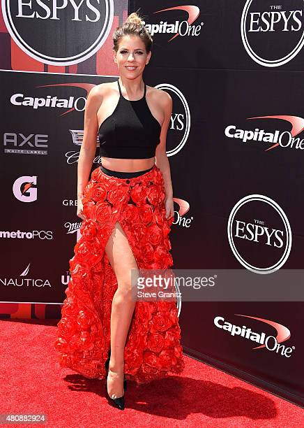 Stephanie Bauer arrives at the The 2015 ESPYS at Microsoft Theater on July 15 2015 in Los Angeles California