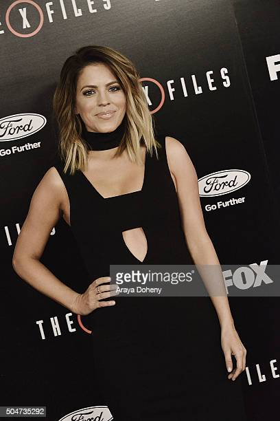 Stephanie Bauer attends The XFiles Fox premiere at California Science Center on January 12 2016 in Los Angeles California