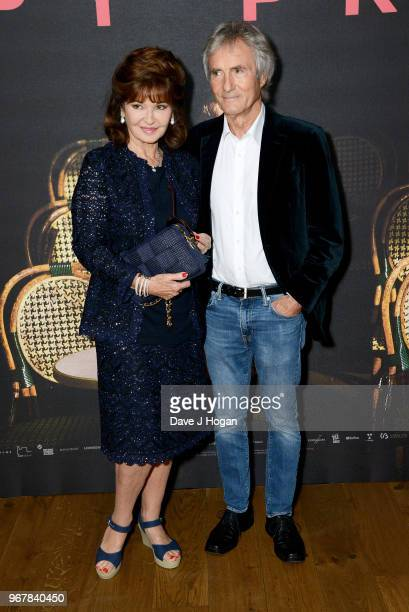 Stephanie Beacham and Bernie Greenwood attend the UK premiere of 'The Happy Prince' at Vue West End on June 5 2018 in London England