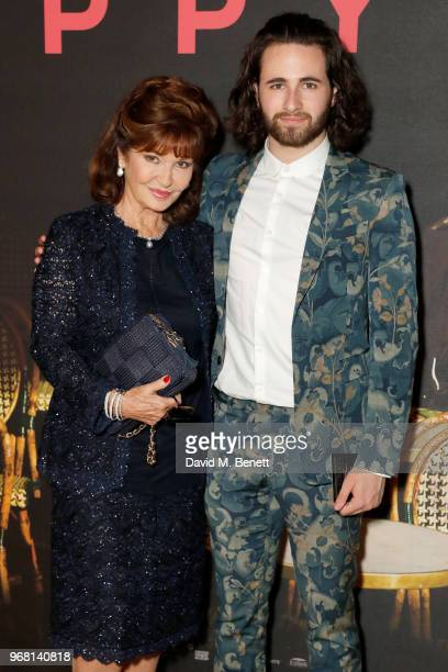 Stephanie Beacham and Christian Tye attend the UK Premiere of 'The Happy Prince' at the Vue West End on June 5 2018 in London England