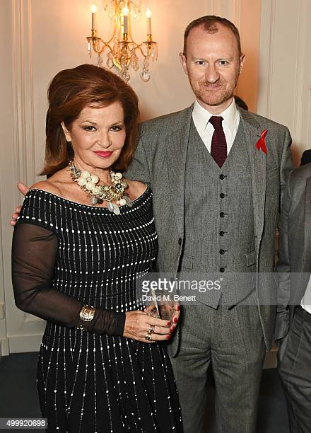 Stephanie Beacham and Mark Gatiss attend the Winq Magazine Men of the Year lunch to benefit the Elton John Aids Foundation at The Mandarin Oriental...