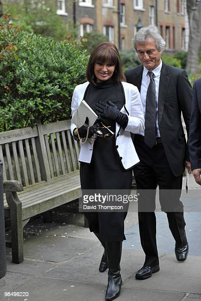 Stephanie Beacham Attending the Funeral of Christopher Cazanove on April 16 2010 in London England