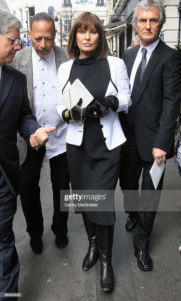 Stephanie Beacham attends the funeral of Christopher Cazenove held at St Paul's Church in Covent Garden on April 16, 2010 in London, England.