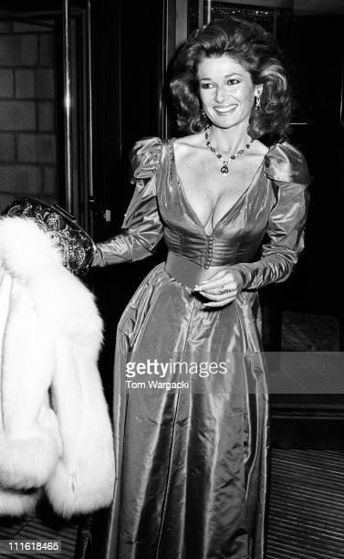 Stephanie Beacham during Stephanie Beacham Sighting at the BAFTA Awards March 15 1986 in London Great Britain