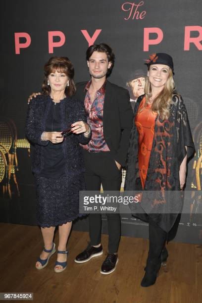 Stephanie Beacham Jack Brett Anderson and Emma Samms attend the UK premiere of 'The Happy Prince' at Vue West End on June 5 2018 in London England