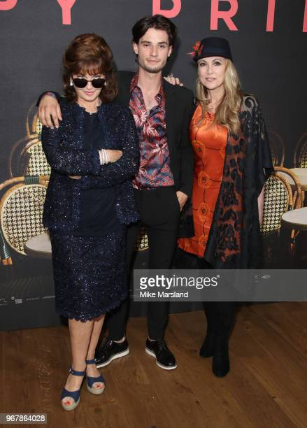 Stephanie Beacham Jack Brett Anderson and Emma Samms attends the UK premiere of 'The Happy Prince' at Vue West End on June 5 2018 in London England