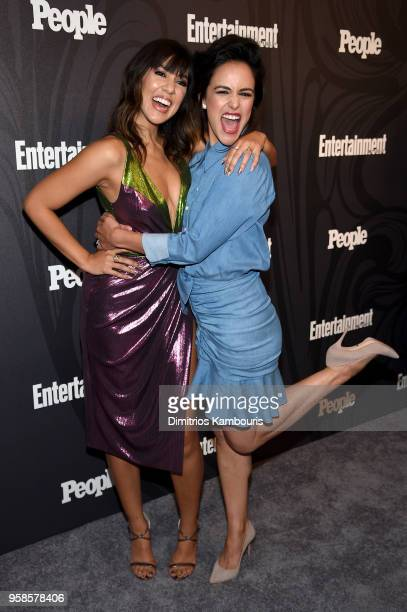 Stephanie Beatriz and Melissa Fumero of Brooklyn 99 attend Entertainment Weekly PEOPLE New York Upfronts celebration at The Bowery Hotel on May 14...