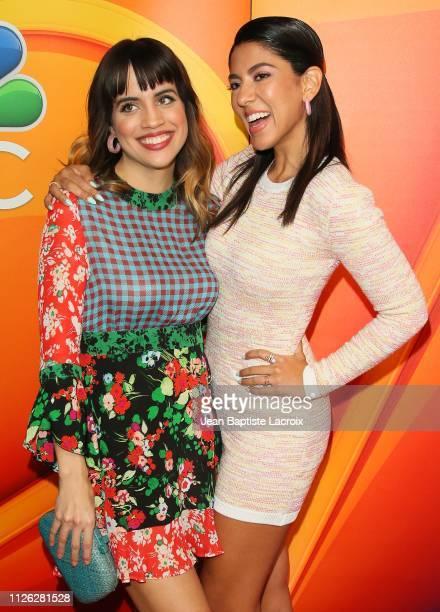 Stephanie Beatriz and Natalie Morales attend NBC's Los Angeles MidSeason Press Junket on February 20 2019 in Los Angeles California