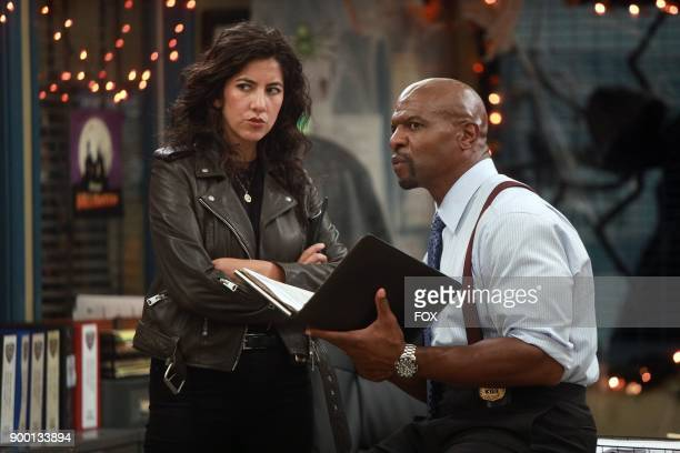 Stephanie Beatriz and Terry Crews in the HalloVeen episode of BROOKLYN NINENINE airing Tuesday Oct 17 on FOX