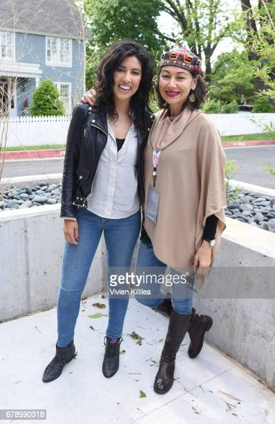 Stephanie Beatriz and Yassamin Maleknasr attend the 3rd Annual Bentonville Film Festival on May 4 2017 in Bentonville Arkansas