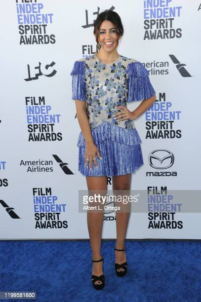 Stephanie Beatriz arrives for the 2020 Film Independent Spirit Awards held on February 8 2020 in Santa Monica California