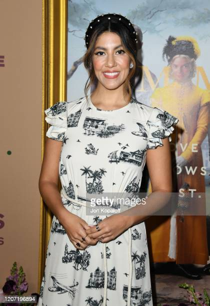 """Stephanie Beatriz attends the premiere of Focus Features' """"Emma."""" at DGA Theater on February 18, 2020 in Los Angeles, California."""