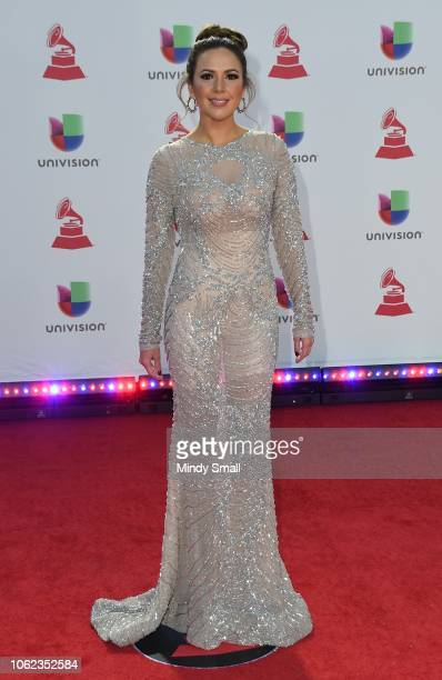 Stephanie Bradford attends the 19th annual Latin GRAMMY Awards at MGM Grand Garden Arena on November 15 2018 in Las Vegas Nevada