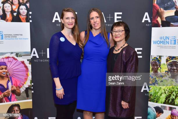 Stephanie Bruder Marianne Schnall and Mary Luke attend UN Women Presents 'The Mask You Live In' Screening And Conversation on November 5 2018 in New...