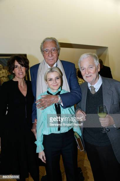 Stephanie Busuttil JeanMarie Rossi his wife and guest attend the Cesar Retrospective at Centre Pompidou on December 11 2017 in Paris France