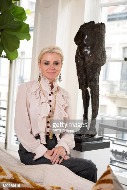 Stephanie Busuttil the last companion of the sculptor Cesar and jewelry designer is photographed for Paris Match at the Fondation Cesar on november...