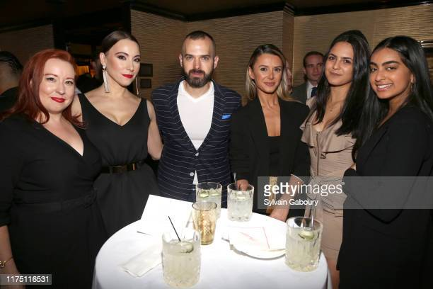 Stephanie Carnright Janel Tanna Jon Harari Lira Halilaj Isabella Buitron and Mia Son attend Janel Tanna's Cover Party By Resident Magazine at...