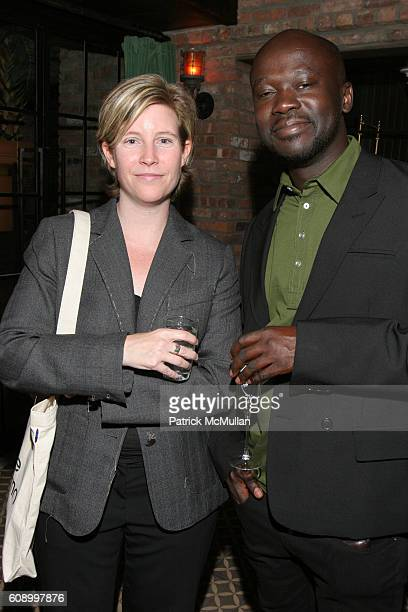 Stephanie Carroll and David Adjaye attend FRIEZE and Deutsche Bank Dinner at The Bowery Hotel on May 14 2007 in New York City