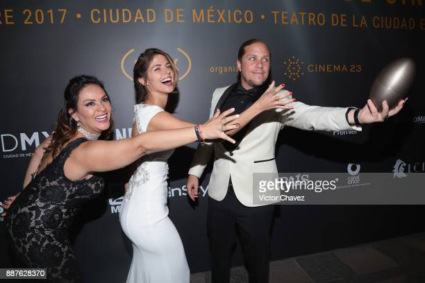 Stephanie Cayo and Gary Alazraki attend the the Premio Iberoamericano De Cine Fenix 2017 press room at Teatro de La Ciudad on December 6 2017 in...