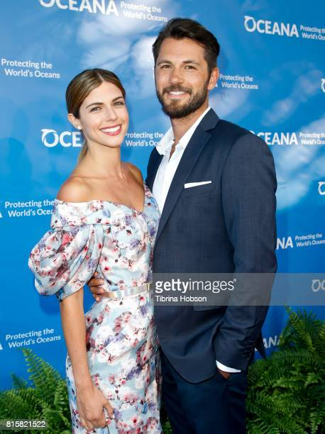 Stephanie Cayo and Guest attend the 10th annual Oceana SeaChange Summer Party at Private Residence on July 15 2017 in Laguna Beach California