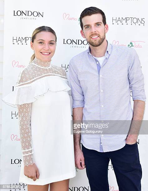 Stephanie Centrone and Jonathan Burdin attend the Hamptons Magazine London Jewelers Host a Luxury Shopping Afternoon on July 21 2016 in Wainscott New...
