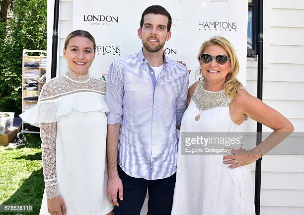 Stephanie Centrone Jonathan Burdin and Debra Halpert attend the Hamptons Magazine London Jewelers Host a Luxury Shopping Afternoon on July 21 2016 in...