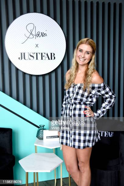 Stephanie Chapluk poses as Stassi Schroeder presents Outfit Of The Day Collection exclusively on JustFab on #NationalOOTDDay at Norah on June 25 2019...