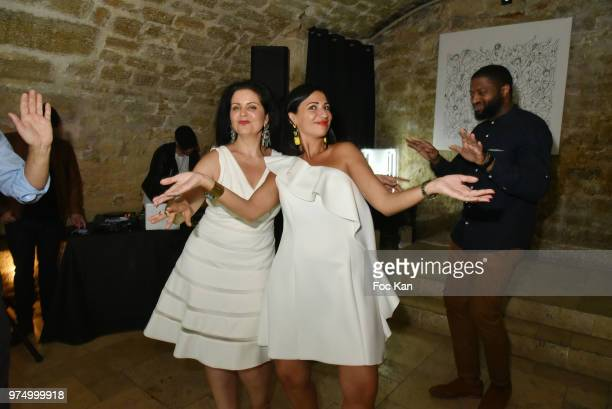 Stephanie Coccellato from Archiman and her guest attend the Archiman Men Body Care Launch Party at 22 Rue de L'Universite on June 14 2018 in Paris...