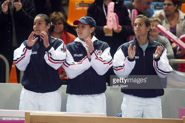 Stephanie COHEN ALORO / Severine BREMOND / Amelie MAURESMO France / Italie Fed Cup Orleans