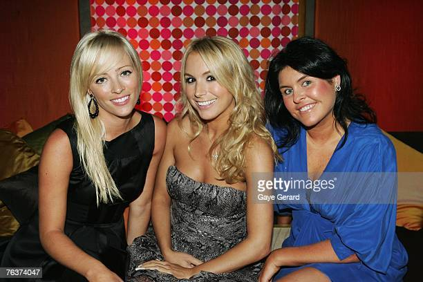 """Stephanie Conley, Natalie Michaels and Renee Lord attend Hemmesphere's 7th Birthday celebrations """"Tokyo Kumpai"""" at the Establishment August 29, 2007..."""